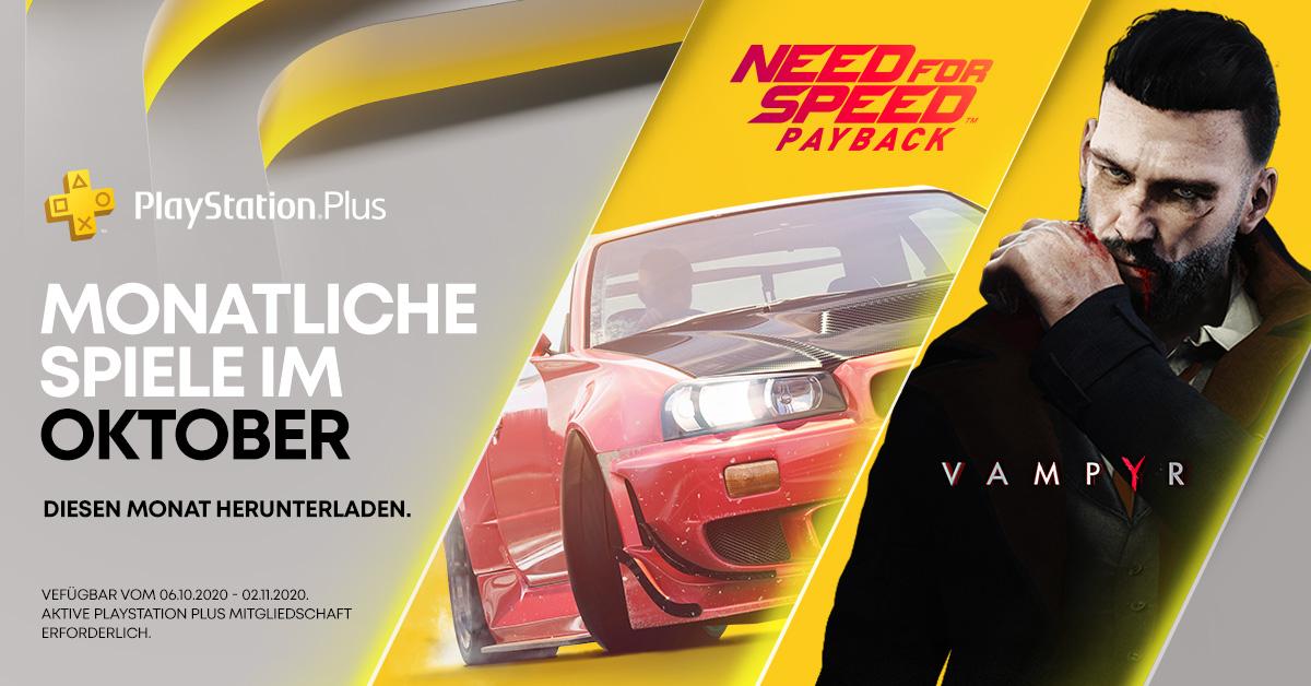 PlayStation Plus-Titel im Oktober 2020