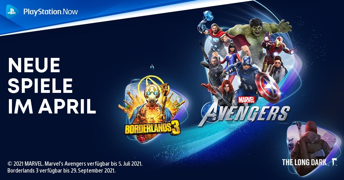 PlayStation Now-Spiele im April